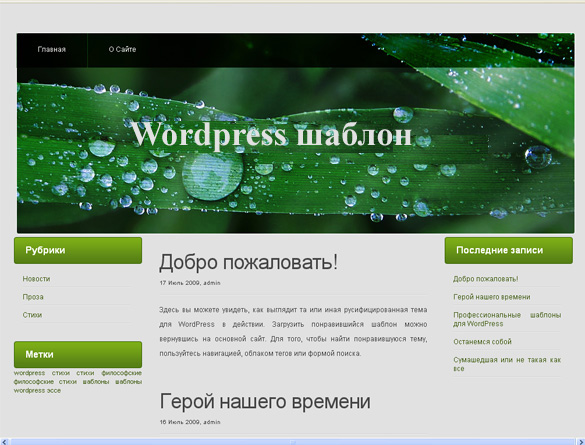 WordPress тема Detachable