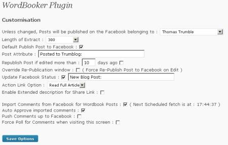 Плагин Wordbooker