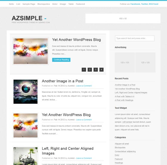 Тема Azsimple для Wordpress